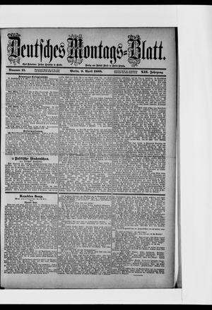 Berliner Tageblatt und Handels-Zeitung vom 09.04.1888