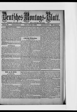 Berliner Tageblatt und Handels-Zeitung vom 16.04.1888