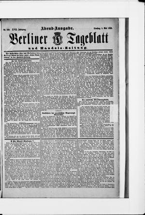 Berliner Tageblatt und Handels-Zeitung vom 01.05.1888