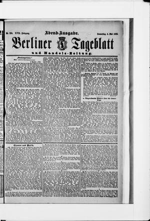 Berliner Tageblatt und Handels-Zeitung vom 03.05.1888