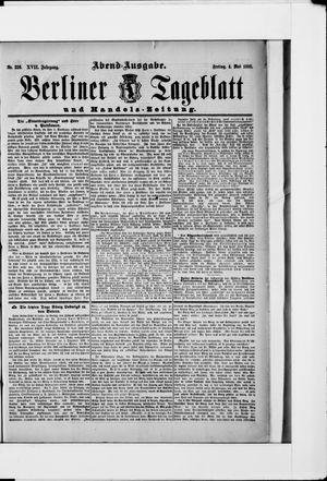 Berliner Tageblatt und Handels-Zeitung vom 04.05.1888