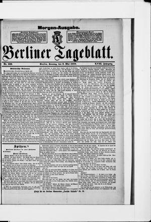Berliner Tageblatt und Handels-Zeitung vom 06.05.1888