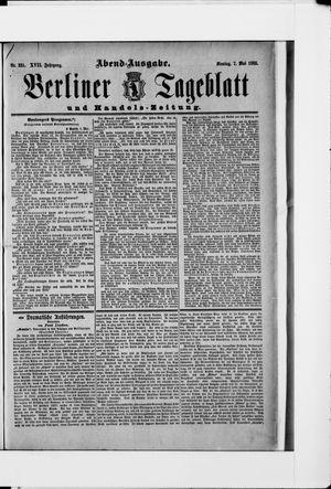Berliner Tageblatt und Handels-Zeitung vom 07.05.1888