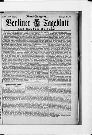 Berliner Tageblatt und Handels-Zeitung vom 09.05.1888