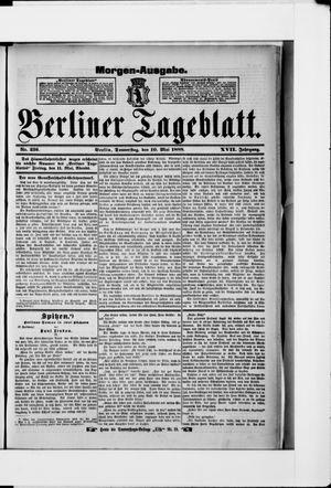 Berliner Tageblatt und Handels-Zeitung vom 10.05.1888