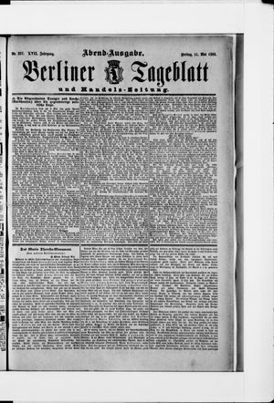 Berliner Tageblatt und Handels-Zeitung vom 11.05.1888