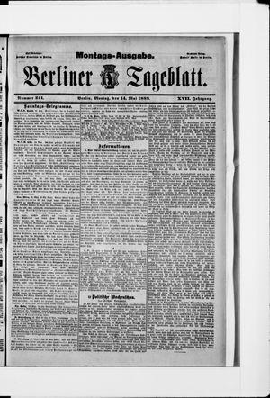 Berliner Tageblatt und Handels-Zeitung vom 14.05.1888