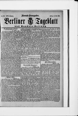 Berliner Tageblatt und Handels-Zeitung vom 18.05.1888