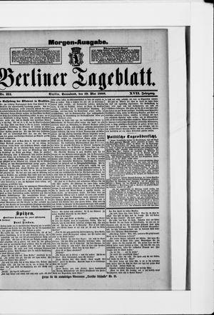 Berliner Tageblatt und Handels-Zeitung vom 19.05.1888