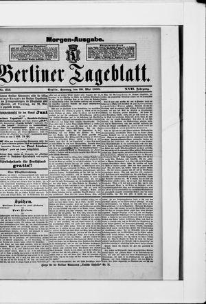 Berliner Tageblatt und Handels-Zeitung vom 20.05.1888