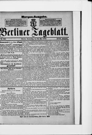 Berliner Tageblatt und Handels-Zeitung vom 24.05.1888