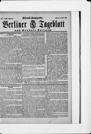 Berliner Tageblatt und Handels-Zeitung vom 25.05.1888