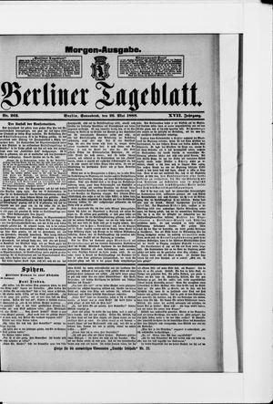Berliner Tageblatt und Handels-Zeitung vom 26.05.1888