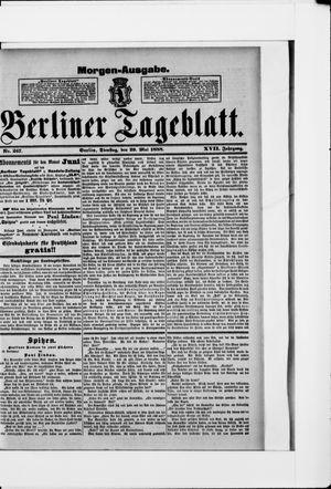 Berliner Tageblatt und Handels-Zeitung vom 29.05.1888