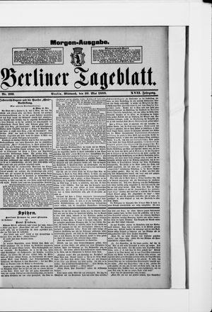 Berliner Tageblatt und Handels-Zeitung vom 30.05.1888