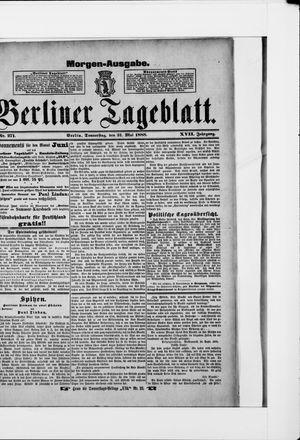 Berliner Tageblatt und Handels-Zeitung vom 31.05.1888