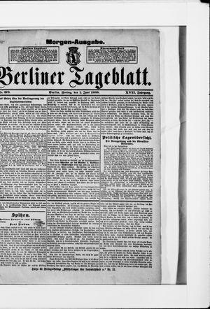 Berliner Tageblatt und Handels-Zeitung vom 01.06.1888