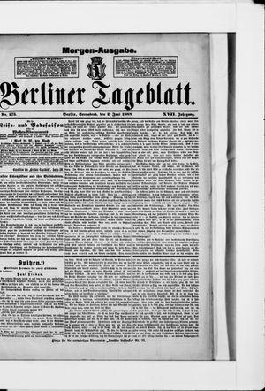 Berliner Tageblatt und Handels-Zeitung vom 02.06.1888