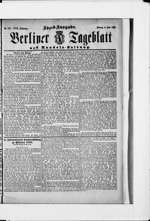 Berliner Tageblatt und Handels-Zeitung vom 04.06.1888