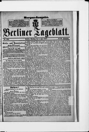 Berliner Tageblatt und Handels-Zeitung vom 05.06.1888