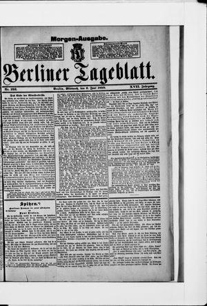 Berliner Tageblatt und Handels-Zeitung vom 06.06.1888
