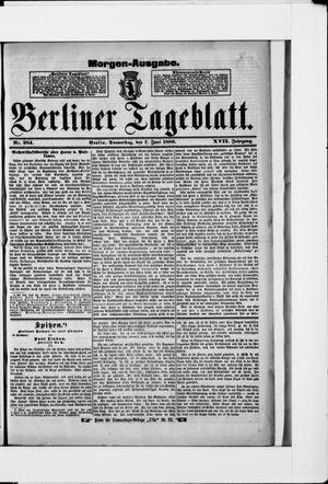 Berliner Tageblatt und Handels-Zeitung vom 07.06.1888