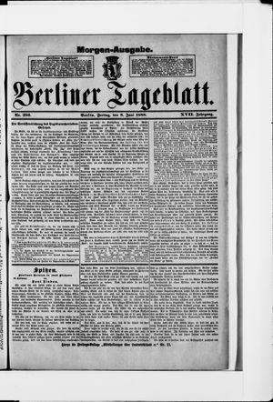Berliner Tageblatt und Handels-Zeitung vom 08.06.1888