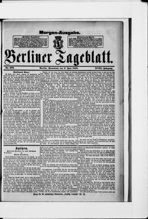 Berliner Tageblatt und Handels-Zeitung vom 09.06.1888
