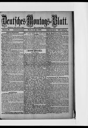 Berliner Tageblatt und Handels-Zeitung vom 11.06.1888