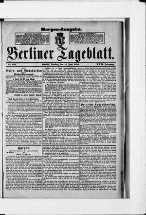 Berliner Tageblatt und Handels-Zeitung vom 12.06.1888