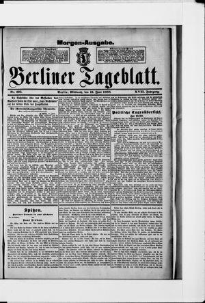 Berliner Tageblatt und Handels-Zeitung vom 13.06.1888