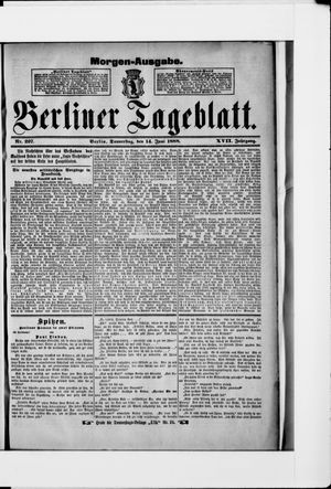 Berliner Tageblatt und Handels-Zeitung vom 14.06.1888