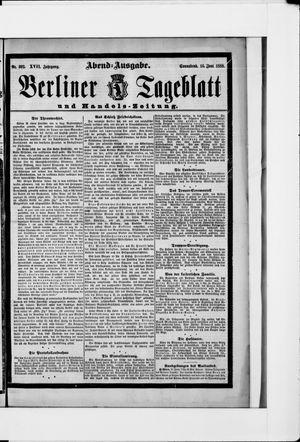 Berliner Tageblatt und Handels-Zeitung vom 16.06.1888