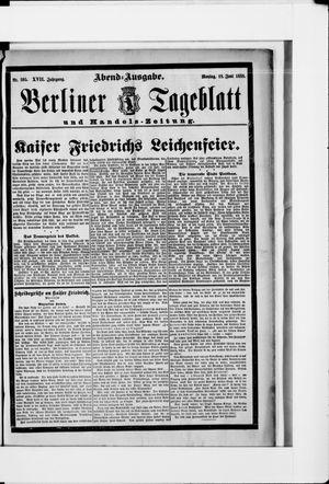 Berliner Tageblatt und Handels-Zeitung vom 18.06.1888