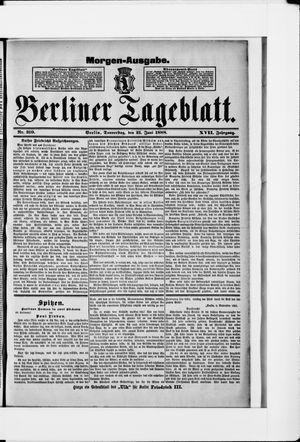 Berliner Tageblatt und Handels-Zeitung vom 21.06.1888