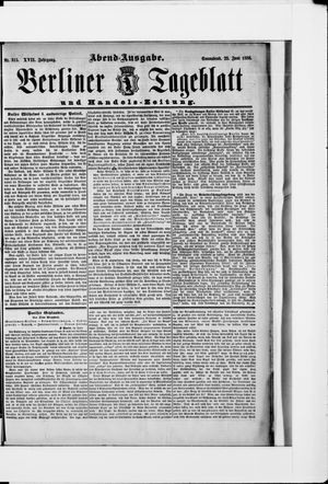 Berliner Tageblatt und Handels-Zeitung vom 23.06.1888
