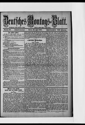 Berliner Tageblatt und Handels-Zeitung vom 25.06.1888
