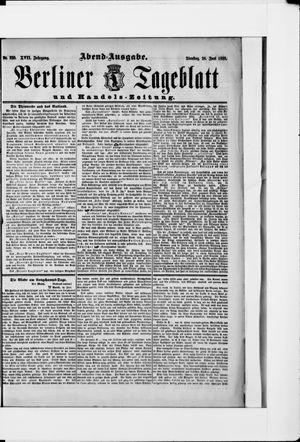 Berliner Tageblatt und Handels-Zeitung vom 26.06.1888
