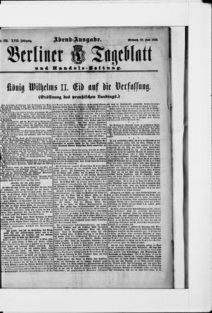 Berliner Tageblatt und Handels-Zeitung vom 27.06.1888