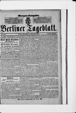 Berliner Tageblatt und Handels-Zeitung vom 28.06.1888