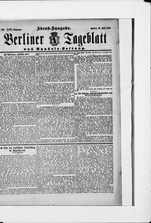 Berliner Tageblatt und Handels-Zeitung vom 29.06.1888