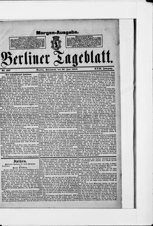 Berliner Tageblatt und Handels-Zeitung vom 30.06.1888