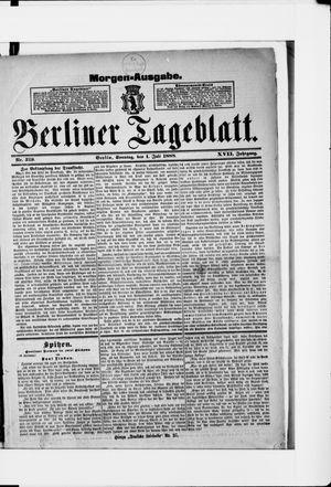 Berliner Tageblatt und Handels-Zeitung vom 01.07.1888