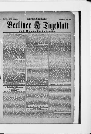 Berliner Tageblatt und Handels-Zeitung vom 04.07.1888