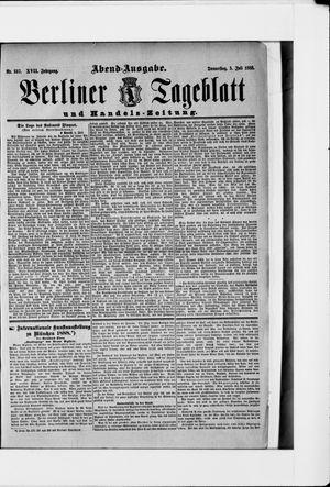 Berliner Tageblatt und Handels-Zeitung vom 05.07.1888