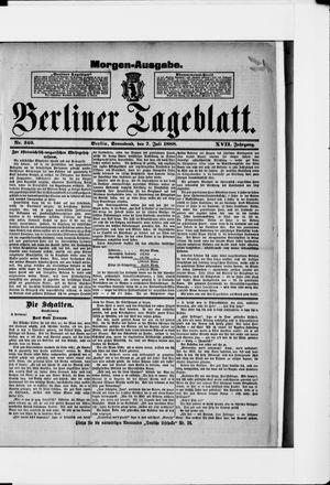 Berliner Tageblatt und Handels-Zeitung vom 07.07.1888