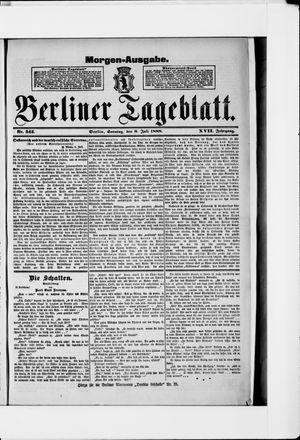 Berliner Tageblatt und Handels-Zeitung vom 08.07.1888