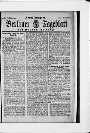 Berliner Tageblatt und Handels-Zeitung vom 09.07.1888