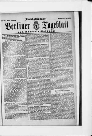 Berliner Tageblatt und Handels-Zeitung vom 11.07.1888