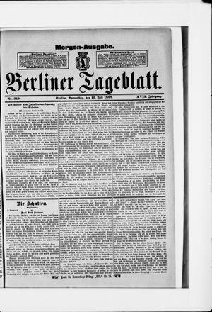 Berliner Tageblatt und Handels-Zeitung vom 12.07.1888